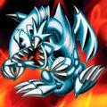 Foto dragón toon de ojos azules