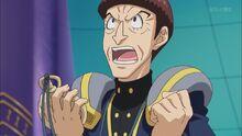 Mamoru enfadado