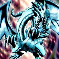 Foto dragón blanco de ojos azules ldd