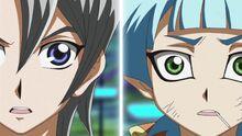 Aster y Sora sorprendidos