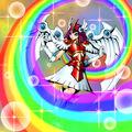 Foto velo arco iris