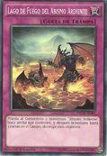 Lago de fuego del abismo ardiente