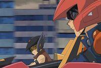 Yusei reuniendose con Crow