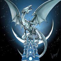Foto dragón blanco de ojos azules yap1