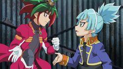 Yuya discutiendo con Sora