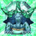 Foto bestia de cristal tortuga esmeralda