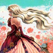 Foto amante de la rosa