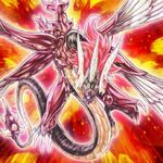 Foto dragón rojo majestuoso