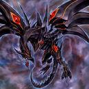 Foto dragón de oscuridad de ojos rojos