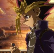 Yugi pensando en el Faraón