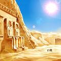 Foto luz solar del desierto