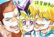 Tristán, Yugi y Joey por Kagami