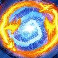Foto fusión del dragón de trueno