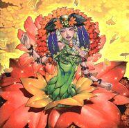 Foto chirubimé, princesa de las hojas de otoño