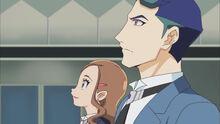 Akira y Hayami observando el nuevo ENLACE VRAINS