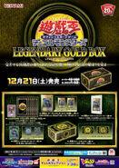 Poster promocional legendary gold box japonés