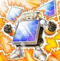 Foto hombre pila solar