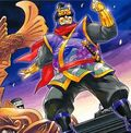 Foto ninja dorado presuntuoso
