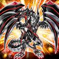 Foto dragón metálico de oscuridad de ojos rojos