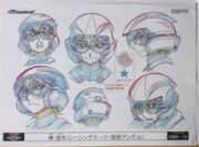 Cara de Yuya Turbo Duelo arte conceptual