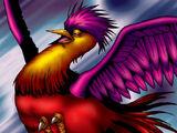 Pájaro Sol Carmesí