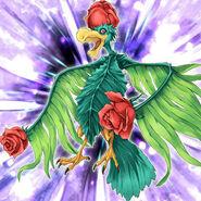 Foto pájaro de rosas