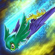 Foto golpe de ala de ave de rapiña