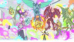 Yuya a punto de derrotar a la Bestia de Batalla
