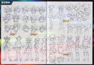 Diseños de Yugi, Yami Yugi. Jaden y Yusei (película)