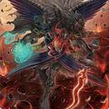 Foto querubiní, ángel de ébano del abismo ardiente