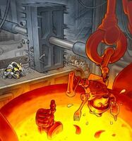 Foto fábrica de chatarra