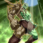 Foto héroe elemental woodsman