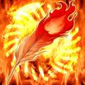 Foto una pluma del fénix