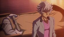 Ryoken junto a su padre fallecido