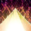 Foto pirámide de luz