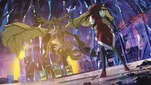 Akiza en su ultimo duelo contra Misty