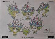 Cara de Yuya poseído arte conceptual
