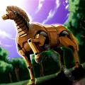 Foto el caballo troyano