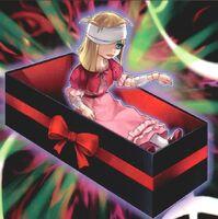 Foto marioneta trucada muñeca sombría