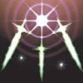 Foto espadas de la luz reveladora