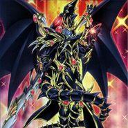 Foto dragoon oscuro de ojos rojos