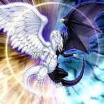 Foto dragón de la luz y la oscuridad