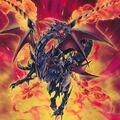 Foto dragón negro resplandeciente de ojos rojos