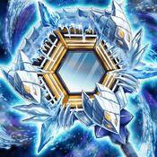 Foto espejo de la barrera de hielo