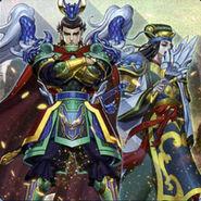 Foto juramento de antiguos guerreros - señores dragón doble