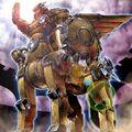 Foto caballo de troya de bestias gladiador