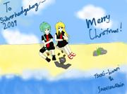 Merry christmas silverhedgehog2009 by tsuki hikari chan-d4k3lc6