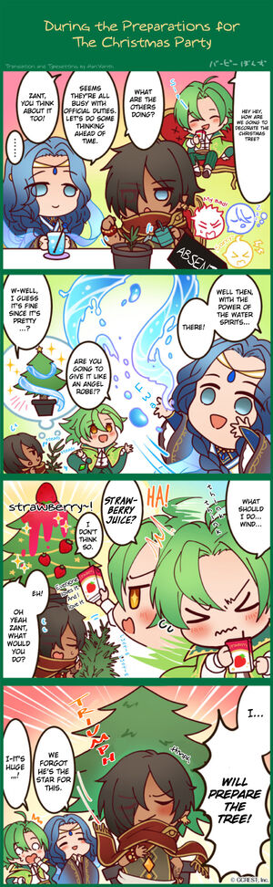 4koma During the Christmas Party Preparations TL
