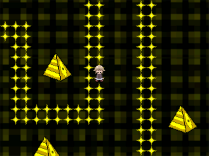 Golden pyramid path