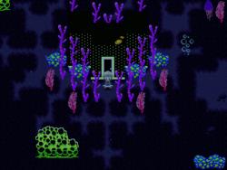 Neon Sea Purple Door to Blue Room